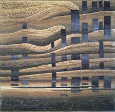 """Factory"" 1978. Hand woven tapestry 140X140cm. by Boris Migal"