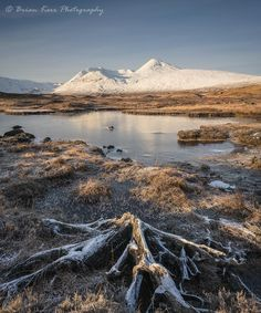 Looking straight ahead at The Black Mount, Rannoch Moor, Scotland