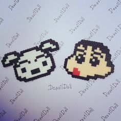 Crayon Shin Chan and Shiro perler beads by deavildoll