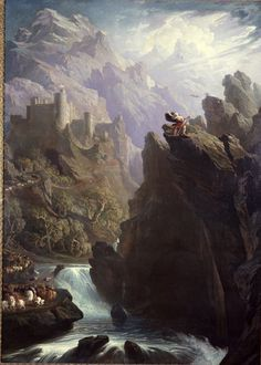 John Martin's spectacular painting The Bard, dating from the early 19th century and first exhibited in 1817. From the Laing Art Gallery in Newcastle