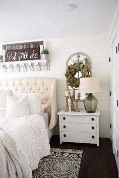 Bedroom decor ideas - transitional, romantic bedroom.