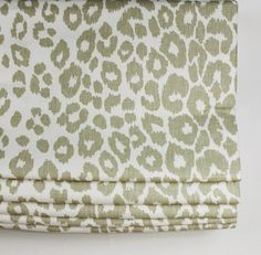 Custom Roman Shade in Schumacher Iconic Leopard (Shown in Linen - comes in 6 colors)