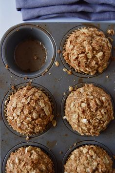 These Wholesome Oatmeal Coffee Cake Muffins are a whole wheat delight, with a soft crumb and sweet oat topping. by uprootkitchen #Muffins #Oat_Meal