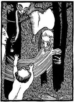 Josef Vachal Czech Graphic Artist ~ journey of a small elf Fine Art Photo, Figure Painting, Contemporary Artists, Art History, Still Life, Portrait, Illustration, Fictional Characters, Elf
