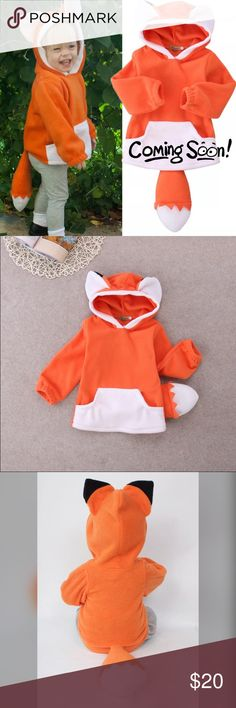 "🎈B2G1🎈NWT Fox Hooded Sweatshirt NWT Fox Hooded Sweatshirt, 4. Runs small. Fits like 3T.🎈This item is eligible for the ""Buy 2 Get 1 Free"" promotion in my closet with a minimum purchase of $15. Free items are to be of equal or lesser in value than the other items. Shirts & Tops Sweatshirts & Hoodies"
