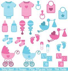 Boy and Girl Baby Clipart & Vectors by PinkPueblo on Creative Market