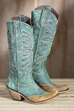 Women's Liberty Black Vintage Inlay Leather Cowboy Boots   Overland
