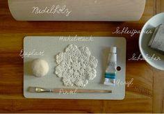 Art & Mañas » Platitos vaciabolsillos de arcilla blanca