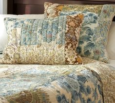 Bedding Ideas Couples Will Love | Decorating with White ... : pottery barn neena quilt - Adamdwight.com