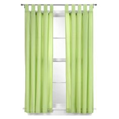 "Tadpoles Basic Solid Green 2-pc. Set -63"" Curtain Panels"