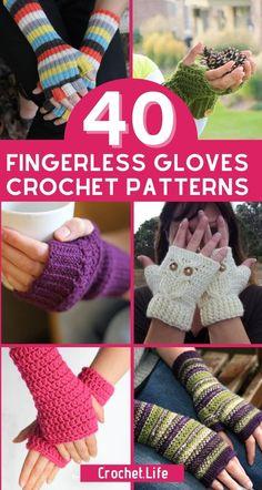 Crochet Fingerless Gloves Free Pattern, Crochet Mittens, Mittens Pattern, Fingerless Mittens, Crochet Wrist Warmers, Hand Warmers, Loom Knitting Patterns, Crochet Accessories, Scarfs