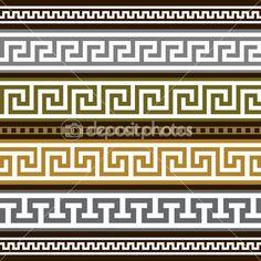 Set of vector greek