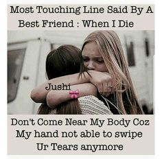 hardikaa kya hua why u left kya hua bol tho Bff Quotes Funny, Friend Love Quotes, Besties Quotes, Crazy Girl Quotes, Cute Love Quotes, Girly Quotes, Friends In Love, True Quotes, Bffs