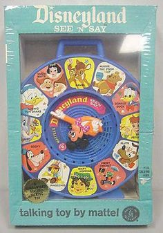 Disneyland See 'n' Say, 1965 Old Disney, Disney Toys, Disney Stuff, Talking Toys, Winnie The Poo, 1970s Toys, Disney Souvenirs, See And Say, Disney Secrets