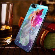 Ariel the little mermaid on galaxy nebula - iPhone 4 / iPhone 4S / iPhone 5 / samsung s2 / samsung s3 / samsung s4 Case Cover on Etsy, $15.90