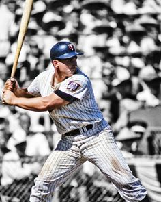 HARMON KILLEBREW, the supposed model for the classic MLB logo, one of the best of its kind, which has spawned COUNTLESS imitations...