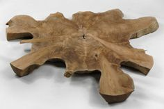 "Large Teak Slab Natural Wood (20-30"")"