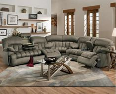 It features dual recliner with console table in love seat and built in fording sleeper in sofa. Description from plushemisphere.com. I searched for this on bing.com/images