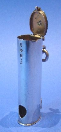 Victorian Antique Silver Vesta Case & Cigar Cutter- Daniel Bexfield Antiques.