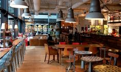 FoodServiceEurope.com: Leon/UK: Pioneer in 'green' fast-food Restaurant Design, News Cafe, Co Working, Coworking Space, Food Service, Dining Furniture, Interior Inspiration, Coffee Shop