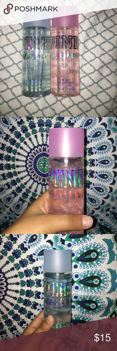 LOT of PINK Victoria's Secret Body Spray NEW Wild at heart and Wild and breezy PINK Body Sprays! Both have glitter in them and smell soo good! Lettering is holographic and is originally $18 each!!! What a deal! $36 value and still in stores! Like and share! PINK Victoria's Secret Other