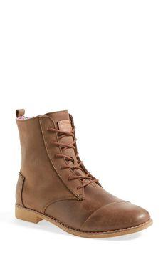 c6dd1afa117da4 TOMS  Alpa  Leather Boot (Women) Brown Ankle Boots