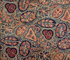 Heirloom textile, block printed and dyed cotton, Gujarat, India, about 1340-1380. Purchased with the assistance of the Art Fund. Museum no. IS. 96-1993, © Victoria and Albert Museum, London