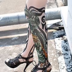 Tattoo Stockings Tiger Dragon Tribal Unisex Sexy Stockings 1 PAIR | Balli Gifts