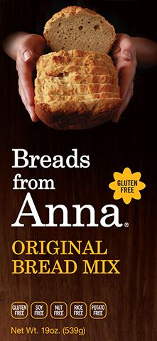 Breads From Anna - Original Bread Mix. Gluten-Free. Soy-Free. Nut-Free. Rice-Free. Nut-Free. Potato-Free. GMO-Free.