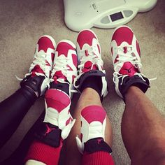 En famille #famille #mom #dad #rose #maman #papa #pink #jordan #white #myminimi #cute #sweet #nike #sneakers #enfants