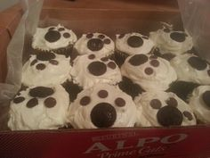 Dog party cupcakes