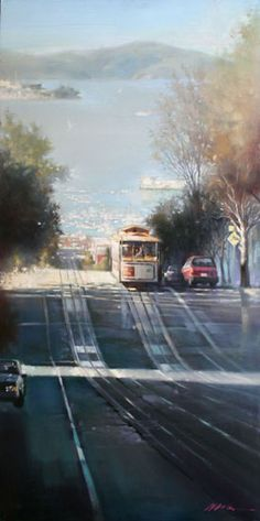 image if San Francisco Bey View painting by Jian Wu