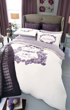 Buy Mauve Badge Print Bed Set from the Next UK online shop