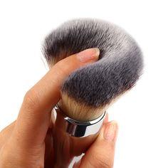 2016 Nova Tamanho Grande Rosto Pó Maquiagem Cosméticos Escova Pincel de Base Plana de Alta Qualidade Dome Blush Mulheres Maquiagem Beleza Ferramenta em Escovas & Ferramentas de Saúde & Beleza no AliExpress.com | Alibaba Group