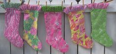 Handmade Christmas Stocking Lilly Pulitzer by hickitypickity, $22.00