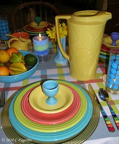 fiestaware tablescape - AT Yahoo! Search Results