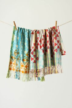 Wish for some new dish towels. Pretty. I could make an apron out of a few of these!