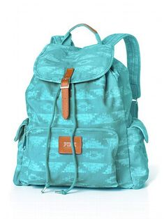Victoria's Secret aqua tribal backpack... this is the back pack I need for school!!!!