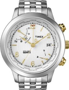 Timex World Time White Dial Mens watch T2N613 ** Continue to the product at the image link.