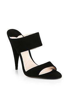 Miu Miu Banded Suede Sandals
