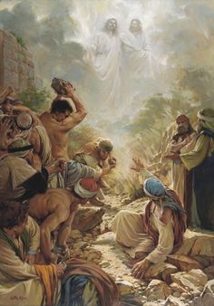 I See the Son of Man -Walter Rane - Heavenly Father introduces Christ to the Nephite people in the Book of Mormon.