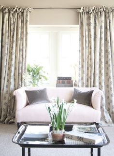 Frill top curtains drapes