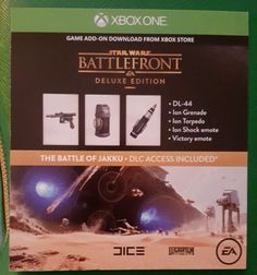 XBOX ONE - Star Wars Battlefront Deluxe Edition DLC (NOT FULL GAME) - http://video-games.goshoppins.com/video-gaming-merchandise/xbox-one-star-wars-battlefront-deluxe-edition-dlc-not-full-game/