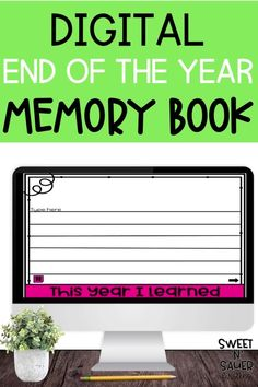 Are you looking for fun and engaging way to celebrate the end of the year together? Help make it a memorable experience for your students with this digital memory flip book!This is a great end of year activity for distance learning. Students get to come together as classroom community one last time as they reflect on their year and it makes a fantastic keepsake. Check of this digital end of year memory book today!