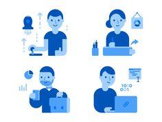 Illustrations for the link management platform Capsulink.