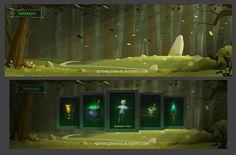 Visual development for video game by Denis Spichkin, via Behance
