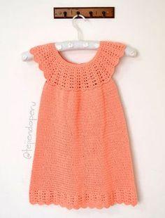 Crochet Baby Dress Pattern, Crochet Patterns, Crochet Girls, Crochet Top, Girls Dresses, Summer Dresses, Microcar, Baby Patterns, Knitting