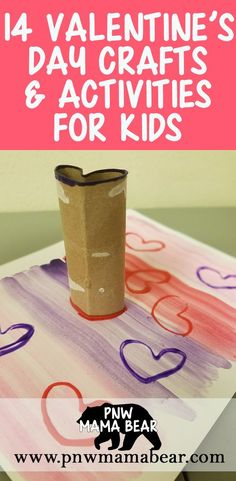 14 Valentine& Day Crafts and Activities for Kids by PNW Mama Bear Valentines Day Activities, Valentines Day Party, Valentine Day Crafts, Holiday Crafts, Valentines Hearts, Bear Valentines, Holiday Fun, Holiday Ideas, Valentine's Day Crafts For Kids