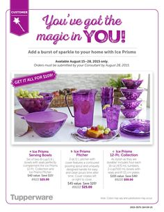 Tupperware Ice Prisms to off Tupperware Consultant, Before Midnight, Food Processor Recipes, Serving Bowls, Ice, Ethnic Recipes, August 28, Independent Consultant, Website