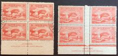 1932 Sydney Harbour Bridge 2d Red 2 Imprint Blocks of 4 Engraved & Typo CTO in Stamps, Australia, By Type | eBay!